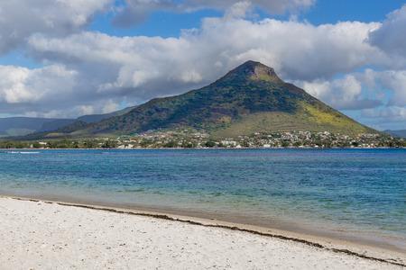 noire: Beach of Flic en flac overlooking Tourelle du Tamarin Mauritius.