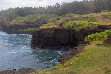 qui: Gris Gris Beach coast of Mauritius.