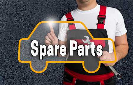 spare parts: Spare parts touchscreen is operated by car mechanics.