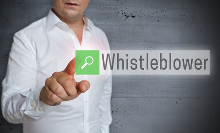 whistleblower: Whistleblower browser is operated by man concept.