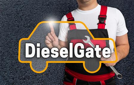 écran tactile Dieselgate est exploité par la mécanique automobile.