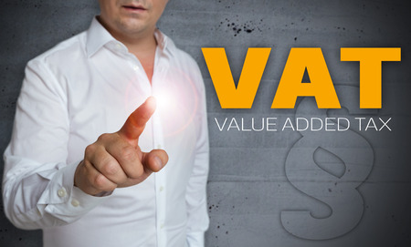 vat: vat touchscreen is operated by man concept.