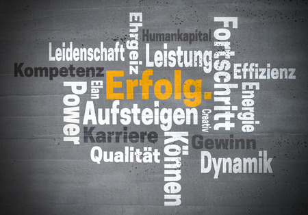 elan: Erfolg Karriere Ehrgeiz (in german success career ambition) word cloud concept.