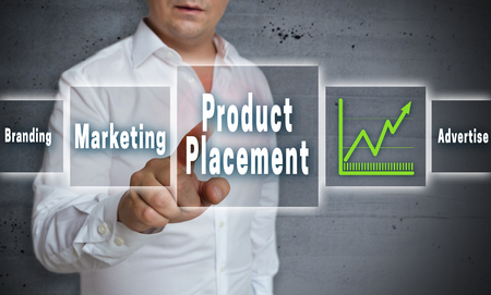 product placement: product placement touchscreen concept background.