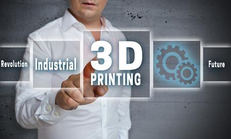 3 d 印刷のタッチ スクリーン概念の背景。
