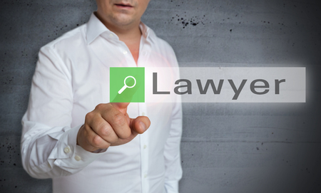 solicitor: lawyer browser is operated by man concept.