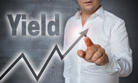 yield touchscreen is operated by man.