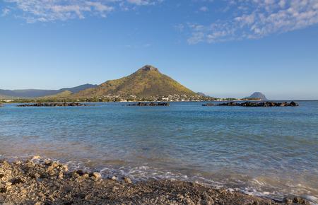 noire: Shores of Flic en flac overlooking Tourelle du Tamarin Mauritius.