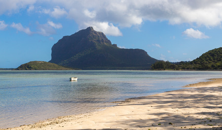 le: Le Morne Brabant Mauritius with sea panoramic.