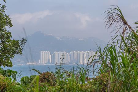 Panoramic view of Sok Kwu Wan Lamma Island. Stock Photo