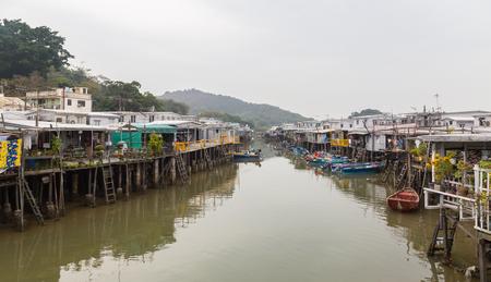 lantau: View of Tai O Lantau Island Hong Kong.