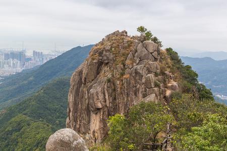 Hong Kong panorama from Lion Rock. Stock Photo