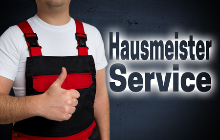 Hausmeister Service (in german Caretaker service) is shown by craftsman concept.