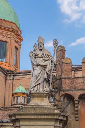 Statue of Saint Petronius Bologna Emilia Romagna Italy. Stock Photo