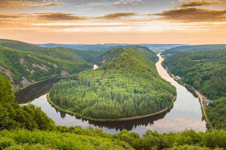 Saar loop at Mettlach in Saarland Germany.