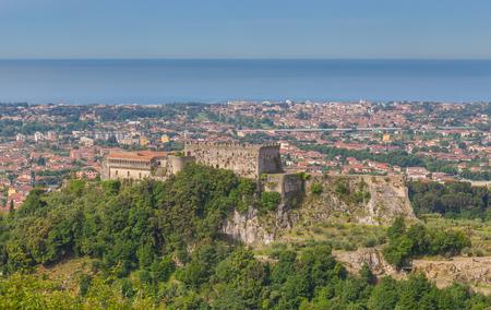 tyrrhenian: Castello Malaspina di Massa Tuscany Italy. Stock Photo