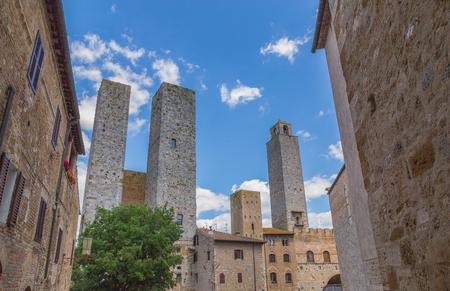 Towers in San Gimignano Tuscany Italy.