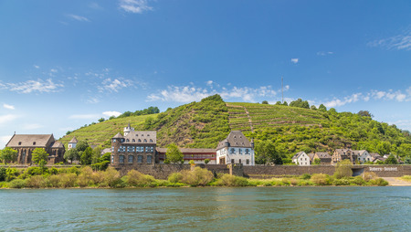 View of Kobern-Gondorf on the Moselle panorama.