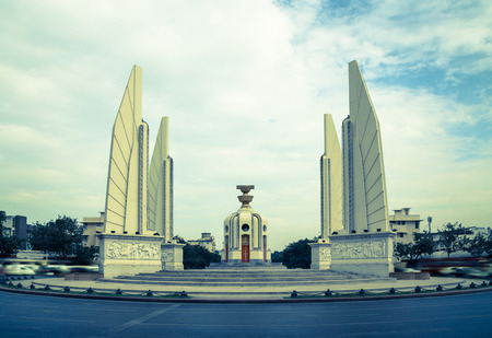 democracy monument: Democracy Monument Bangkok attraction Panorama.