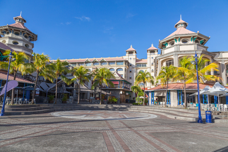 Port louis waterfront center capital of mauritius.
