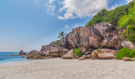 Grand Anse beach on La Digue Seychelles.