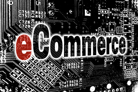 eCommerce with circuit board concept.