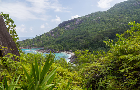 Anse Major beach on Mahe Seychelles.