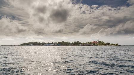 Scenery of Meedhoo Raa Atoll Island, Maldives. Banco de Imagens