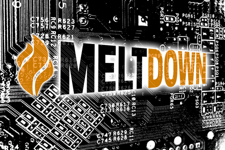 Meltdown with circuit board concept background. Standard-Bild