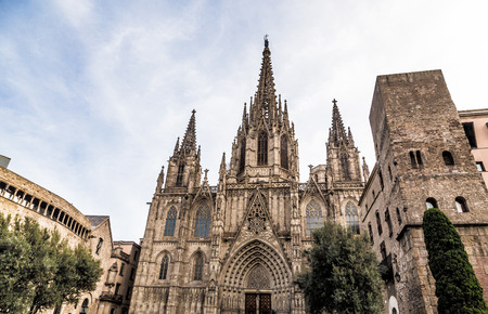 Cathedral of Barcelona Spain Europe. Stockfoto