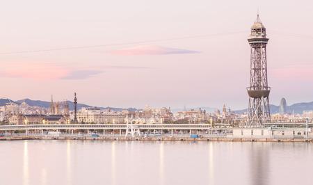 Skyline of Barcelona Spain Europe.