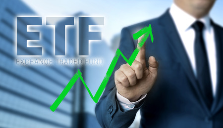 ETF concept is shown by businessman.