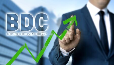 BDC concept is shown by businessman.