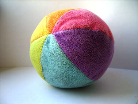 children's: Children s soft, color, plush ball