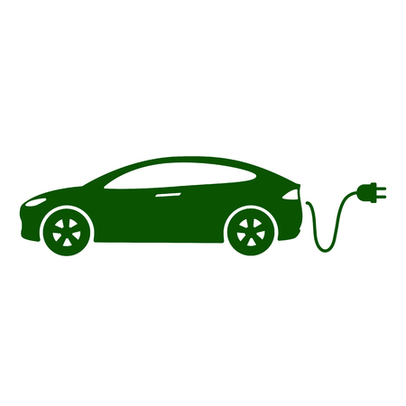 Electric car icon Vector Illustration. Illustration