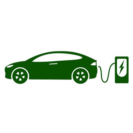 電気車のアイコン ベクトルの図。  イラスト・ベクター素材