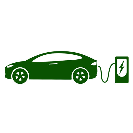 Electric car icon Vector Illustration. Иллюстрация