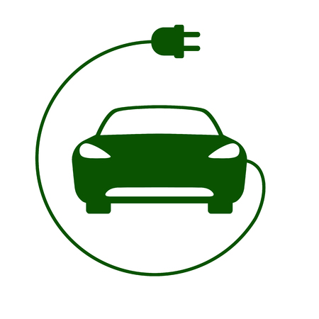 Electric car icon Vector Illustration