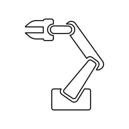 Robotic arm for industrial applications vector illustration Illustration