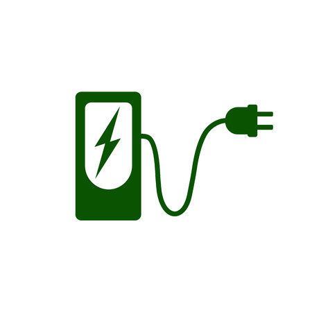 Charging station for electric car icon Vector Illustration