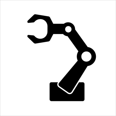 Robotic arm for industrial applications vector illustration Illustration