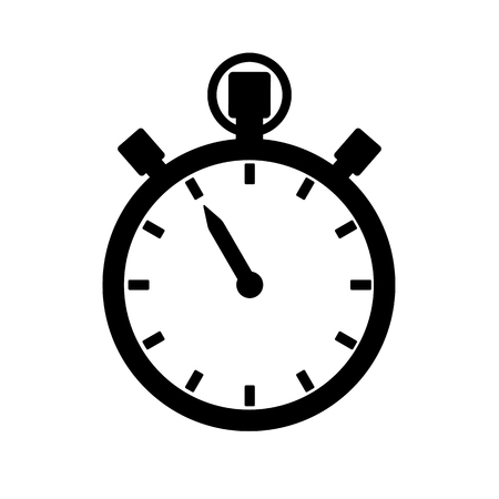 Stopwatch, timer or chronograph icon. Precise time measurement device. Vector Illustration Illustration