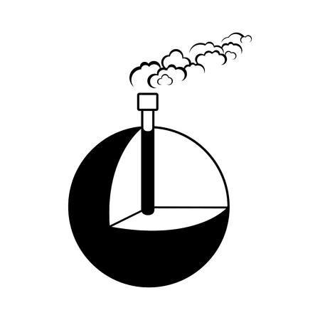 Geothermal energy, alternative energy supply source icon. Vector Illustration