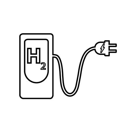 Station de charge pour voiture électrique, carburant bio, icône de véhicule écologique Illustration vectorielle