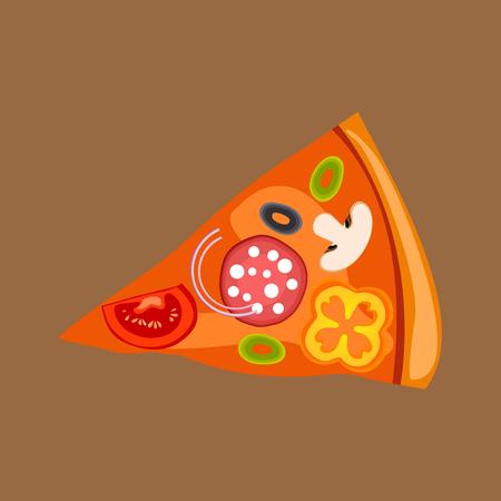 Pizza slice icon Vector Illustration Illustration