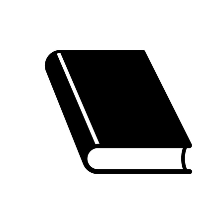 Closed book icon. Thick hardcover book. Vector Illustration