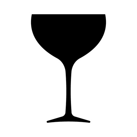 Wine glass icon. Wider bowl glass drinkware preferred for red wine. Vector Illustration