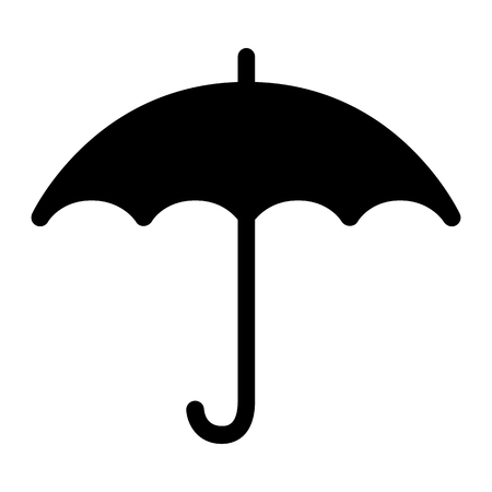 Umbrella icon. Open umbrella side view. Vector Ilustration 向量圖像