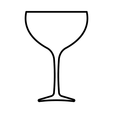Wine glass line icon. Wider bowl glass drink-ware preferred for red wine. Vector Illustration