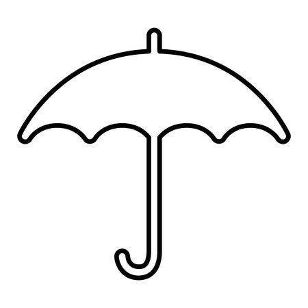 Umbrella line icon. Open umbrella side view. Vector Illustration